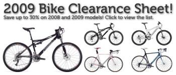 2009 Bike Clearance