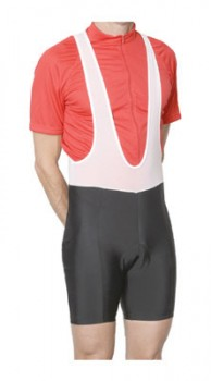 Jersey tucked into bib shorts