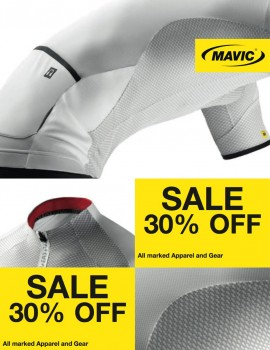 Select Mavic Clothing 30% off