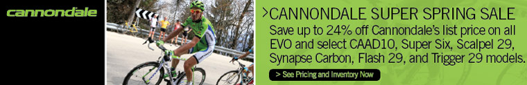 Cannondale Super Spring Sale