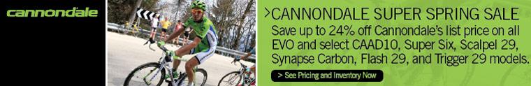 Cannondale Super Spring Sale