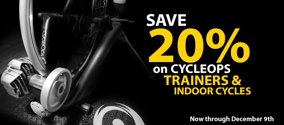 Cycleops 20% off Banner