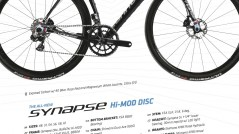 2014 Cannondale Synapse Carbon Hi-Mod Disc Sell Sheet