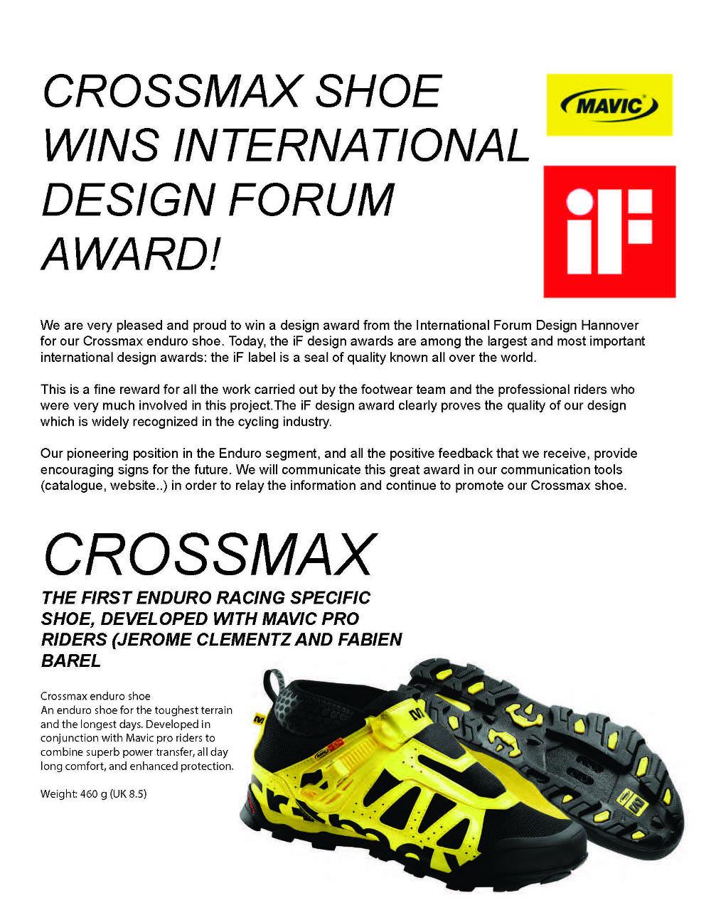 IF design award for crossmax V3