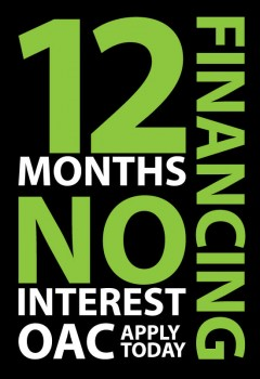 12 Month 0% Financing